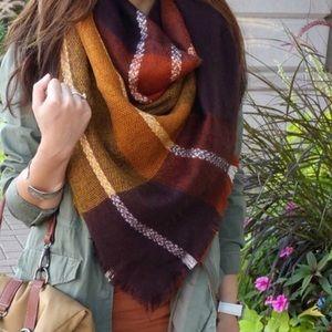 Accessories - Zara Plaid Blanket Scarf